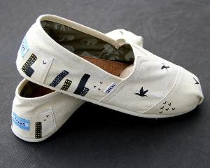 City\ Bird TOMS Custom Shoes for Men & Women by ComptonsCreations