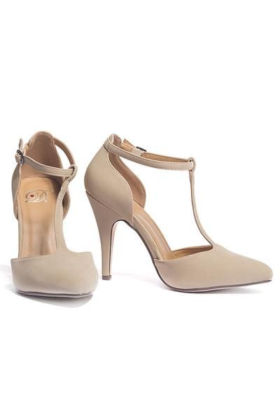 Classic tan heels that are a must have for any girl's closet!
