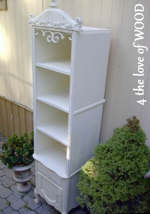 night stand and bathroom cabinet restructured