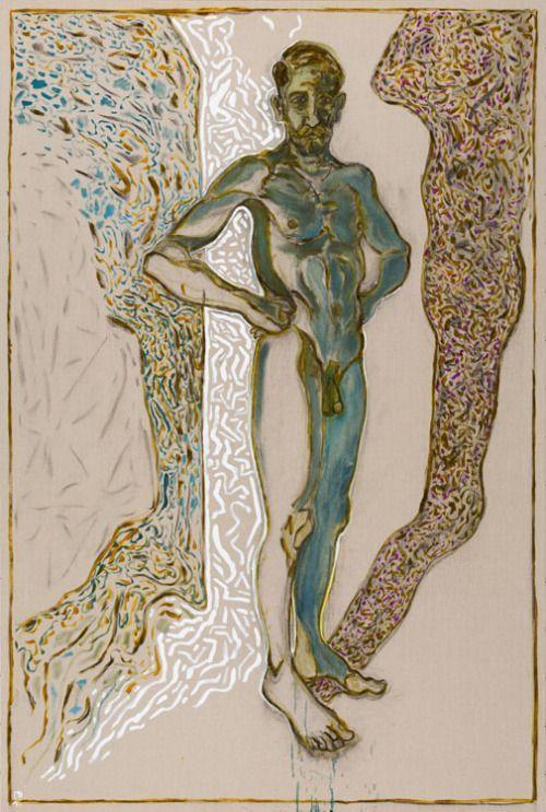 Billy Childish (British, b. 1959), Nude self portrait.