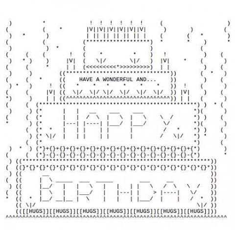 Hoy estamos de festejo cumple mi viejo feliz cumple papuchiis!!  te regalo este dibujito  #happybirthday #programmerslife #ascii #javascript #sistemas #bigdata #analytics #work #proyect #nerd #caos #coolhunter #style #developers #app #design #office #work #programmer #research #code #developer #inspiration #trend #marketingdigital #likeforcomment #like4like #like4likealways #likeforlike #like4liketeam