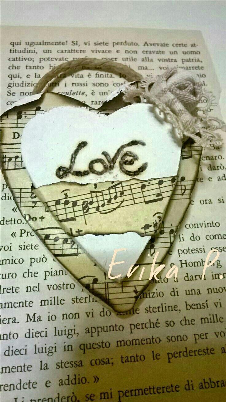 Heart music wood
