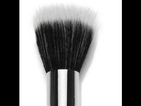 How to apply foundation with Stipple Brush / Duo Fiber Brush (makeup for...