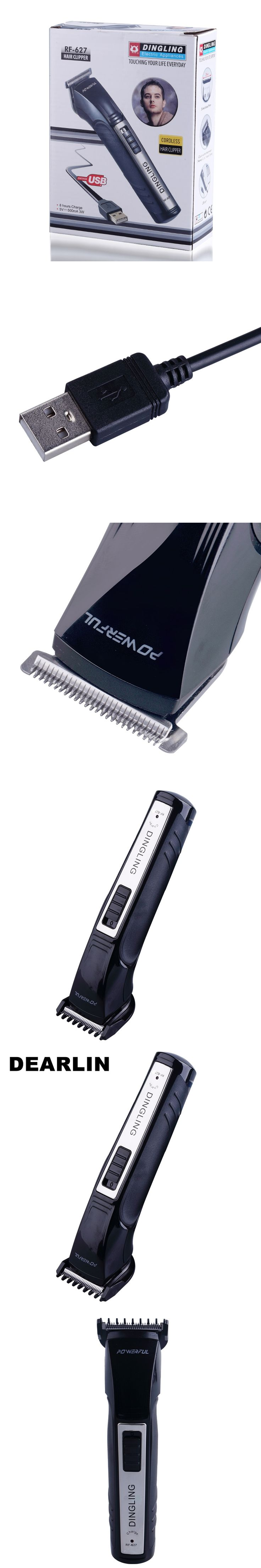 DEARLIN Household Rechargeable USB cable Electric Hair and Beard Trimmer Hair Cutting Machine for Adult and Baby RF-627