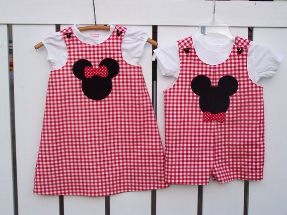 Girls Minnie mouse dress or Boys Mickey mouse by Lolabunyscustoms, $24.95