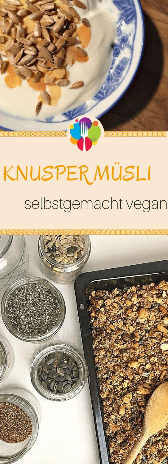 Veganes Müsli selber machen I Knuspermüsli Rezept I Veganes Frühstück. Vegalife Rocks: www.vegaliferocks.de✨ I Fleischlos glücklich, fit & Gesund✨ I Follow me for more vegan inspiration @vegaliferocks