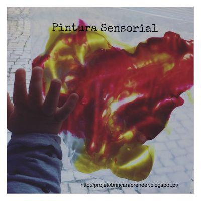 Projeto Brincar e Aprender: Sacos sensoriais com tinta