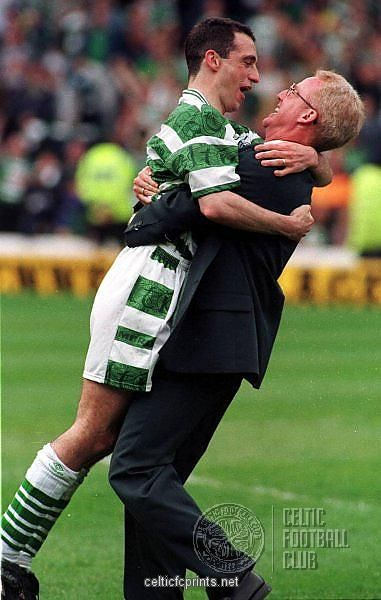 Tommy Burns and Paul McStay as Photographic Prints, Framed and Canvas Prints, Celebrations c/o Celtic FC Prints