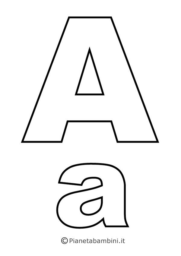 Lettere Dellalfabeto Da Stampare Colorare E Ritagliare Lettere