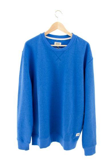 RCM CLOTHING / CREWNECK | BLUE  Sustainable Hemp Apparel, 55% hemp 45% organic cotton fleece http://www.rcm-clothing.com/