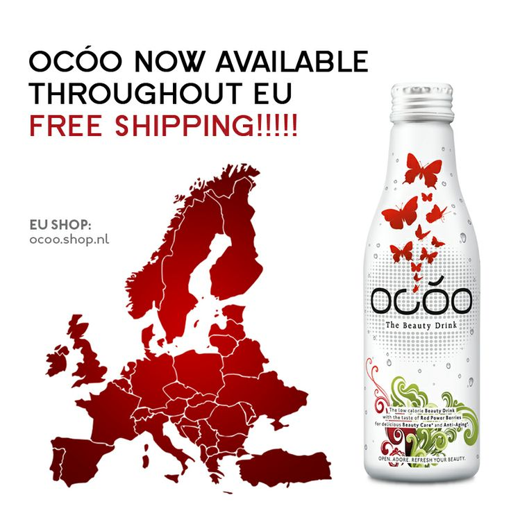 OCÓO - The Beauty Drink now available throughout EU. Free shipping. http://shop.ocoo.nl/
