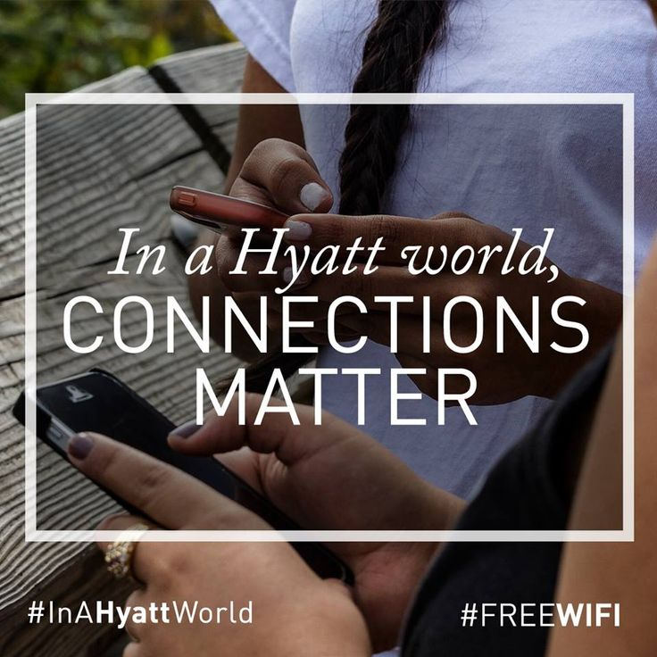 #InAHyattWorld, Wi-Fi will be free, for everyone. We listened to you and we know that when you're looking for a hotel, you shouldn't have to remember which brands or which locations give you free Wi-Fi and the various strings attached.