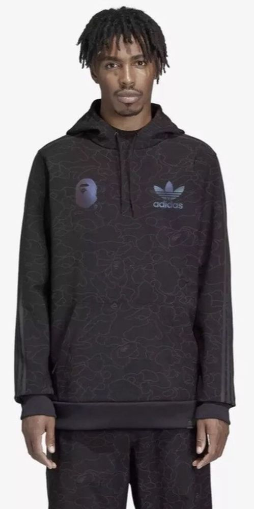 7cd3e1f76699d Details about ADIDAS x BAPE TECH SNOWBOARDING BLACK HOODIE XL SIZE IN HANDS  NEW WITH TAGS