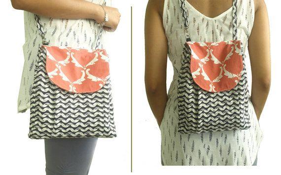 Convertible Sling bag /Backpack Diaper Bag by BoteneCreations