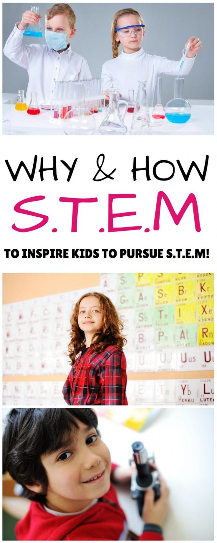 Great ideas for encouraging STEM in your kids including S.T.E.M. activity ideas!