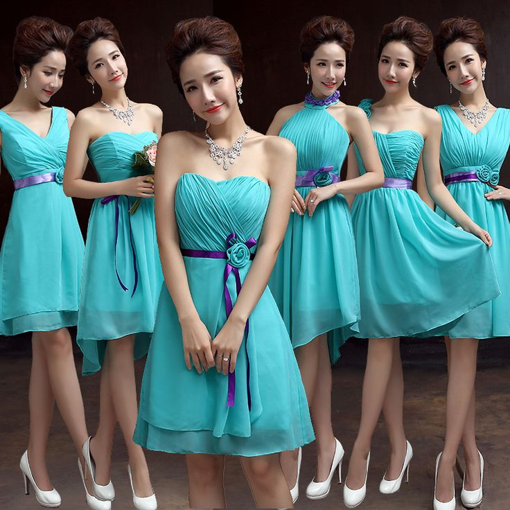 find more information about teal bridesmaid dresses chiffon lake blue sweetheart with purple ribbons bridesmaid dress