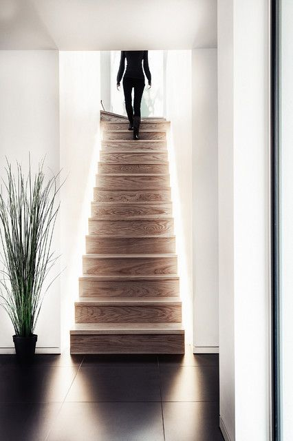 lighting for stairs   Subtle illumination: styling tips with LED lighting including