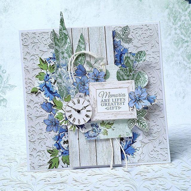 Новым, скрап открытки голубые