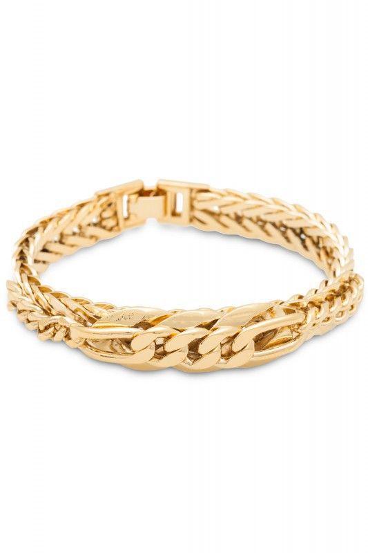 Sabrina Dehoff Armband Chain Element vergoldet. www.styleserver.de