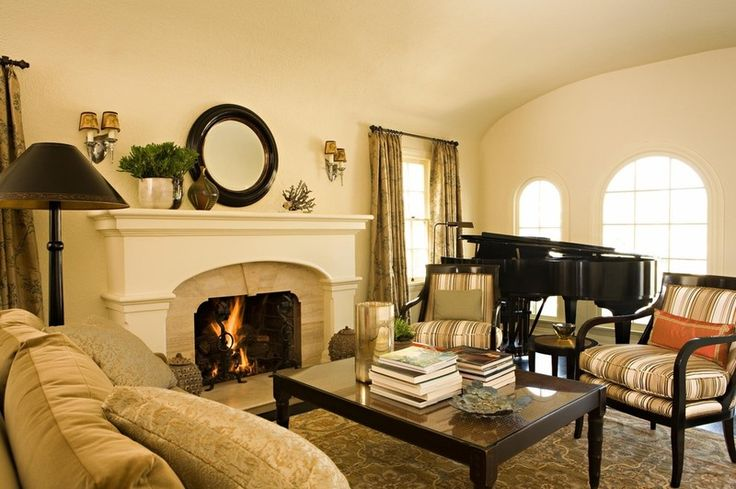 sconces and low-profile items play up mirror