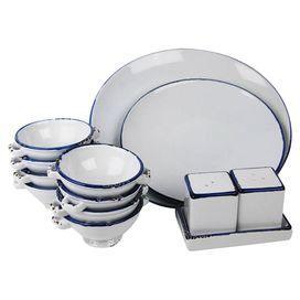 100 Essentials Enamel Style Dinner Set   Contemporary   Dinnerware   Pure  Home