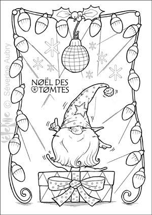 Embroidery idea, Santa Gnome Disco Dancing... tomte-disco