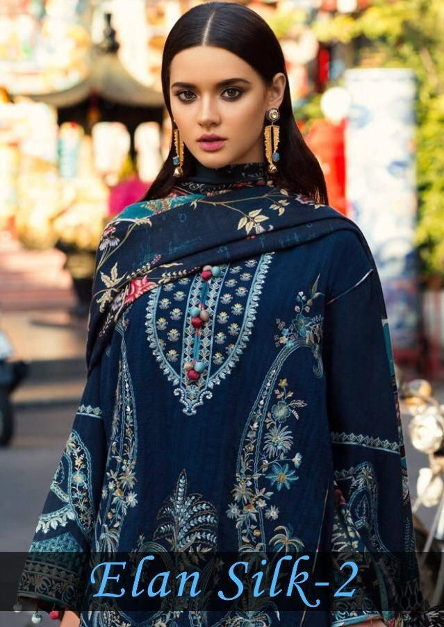 f4ccc5ee2c Deepsy Suits Elan Silk Vol 2 Digital Printed Pure Japan Satin with  Embroidery Work Pakistani Suits Dealer