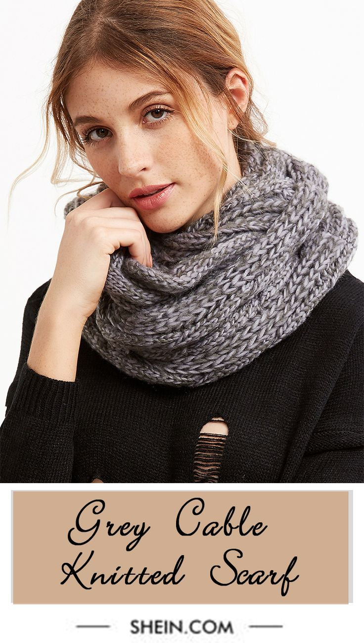 Grey Chunky Knit Scarf | Love to Wear | Pinterest