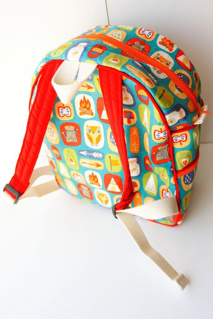 Toddler Backpack in Green Woodland Theme