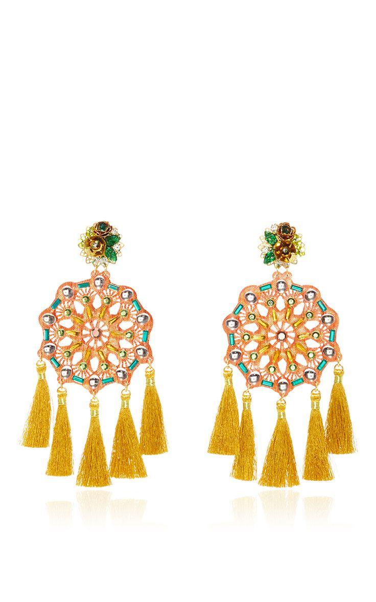 Tangerine Tango Aretes Fiesta Earrings by MERCEDES SALAZAR for Preorder on Moda Operandi