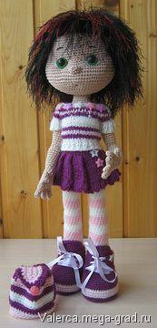 Связанная крючком кукла Нюта - вязание и вышивка, плетение, авторская статуэтка/маска для интерьера. МегаГрад - портал авторской ручной работы ☆