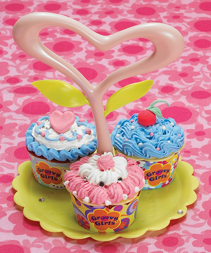 This Groovy Sweetalicious Play Cupcake Creations Kit by Manhattan Toy is perfect! #zulilyfinds