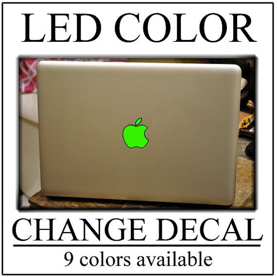 GLOWING Apple Macbook Decal Sticker Color Change your LED Logo MacBook Air Pro Custom Class Vinyl Custom Colors Apple Macbook Decal Sticker
