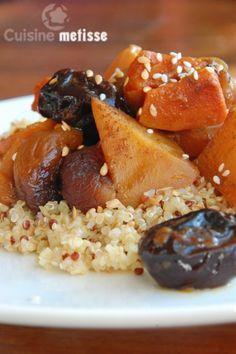 Tajine de légumes d'hiver et fruits secs (potiron/carotte/rutabaga)