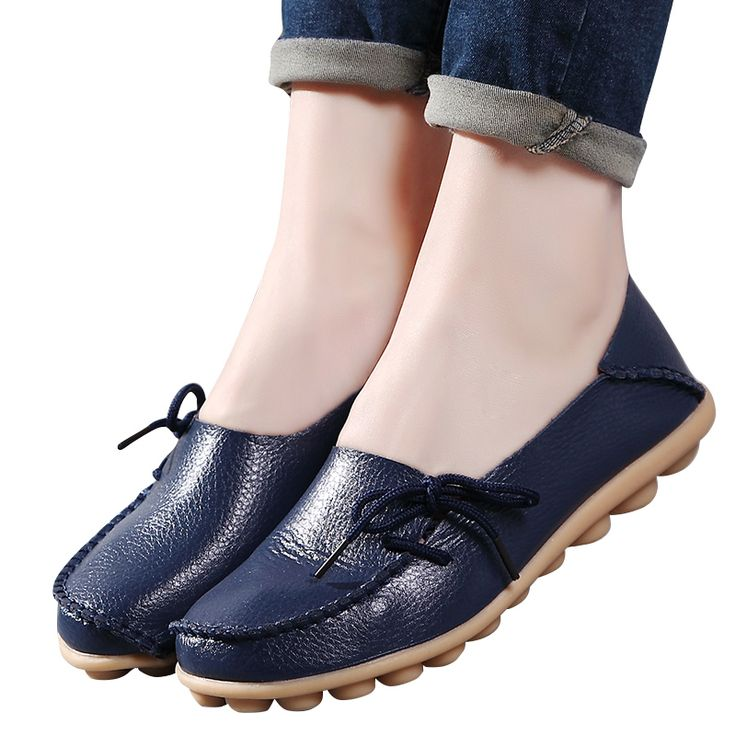 2017 fashion Soft casual flats shoes woman Loafers Mother Shoes Genuine Leather Shoes ballet oxford shoes for women #men, #hats, #watches, #belts, #fashion, #style