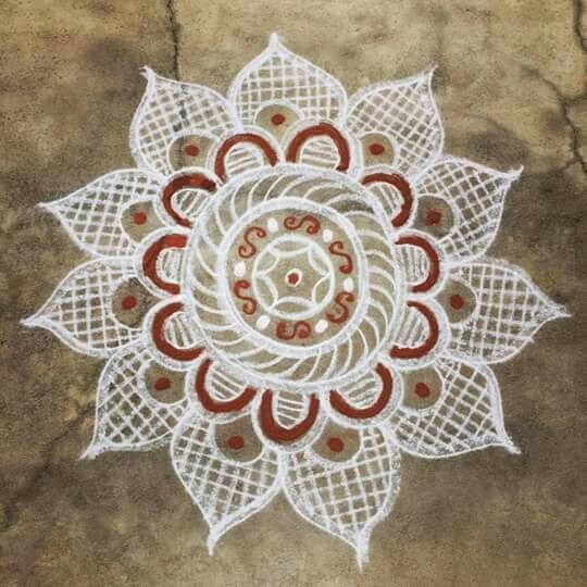 The 390 best images about rangoli on pinterest new year for Floor rangoli design