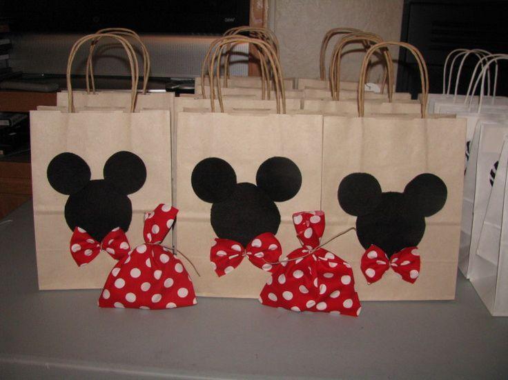 Bolsas decoradas al estilo mickey mouse ideas para - Bolsas para decorar ...
