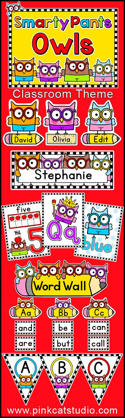 Quirky Classroom Ideas : Smarty pants owls classroom theme pack create a fun and