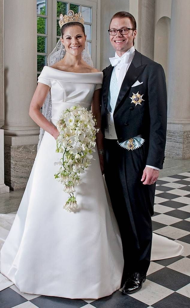 Crown Princess Victoria Of Sweden From The Best Royal Wedding Dresses Of All Time Royal Wedding Gowns Celebrity Wedding Dresses Royal Wedding Dress