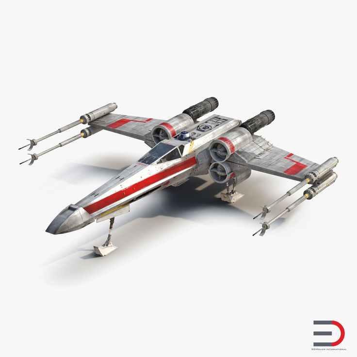 Star Wars X-Wing Starfighter and R2D2 Red 3d models #StarWars #X-Wing #Starfighter #3d #model http://www.turbosquid.com/3d-models/3d-model-star-wars-x-wing/985689?referral=3d_molier-International