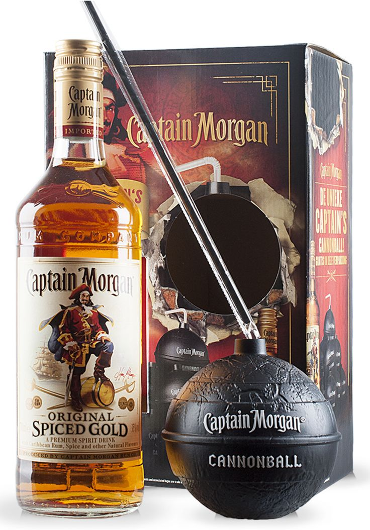 Rom Captain Morgan Spiced Gold Cannonball (0.7L) - SmartDrinks.ro