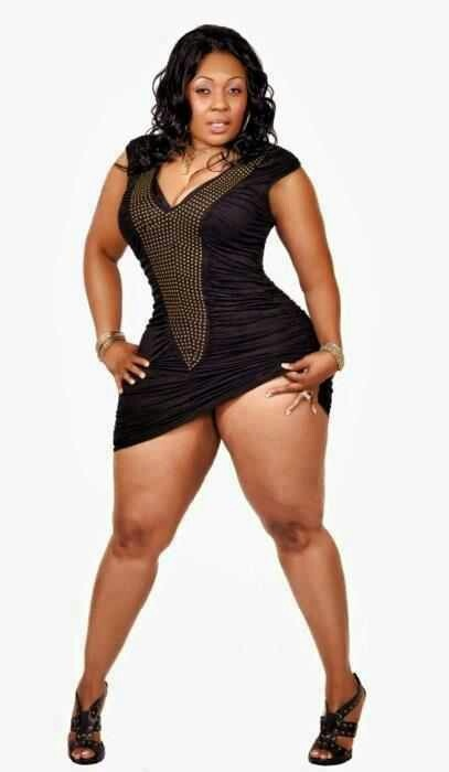 Beautiful plus size black woman