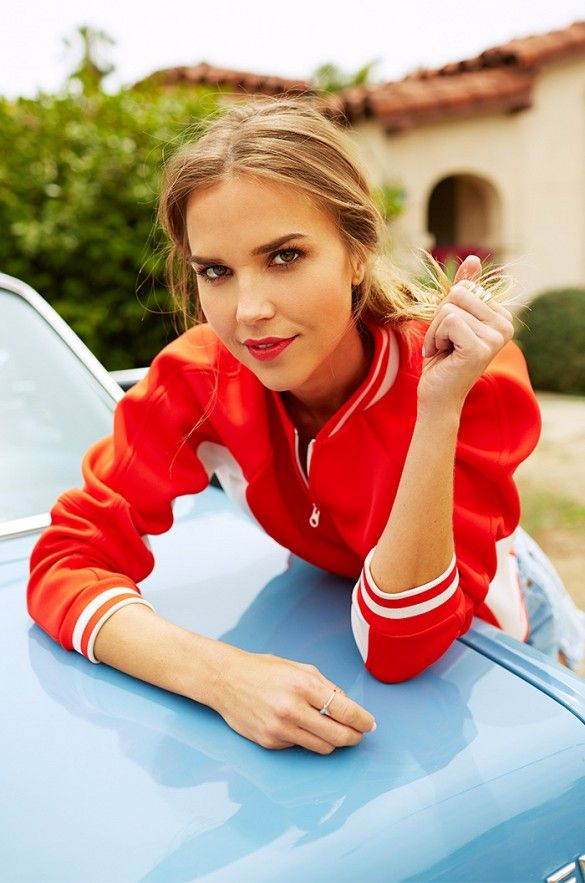 Actress Arielle Kebbel is photographed by Ari Michelson