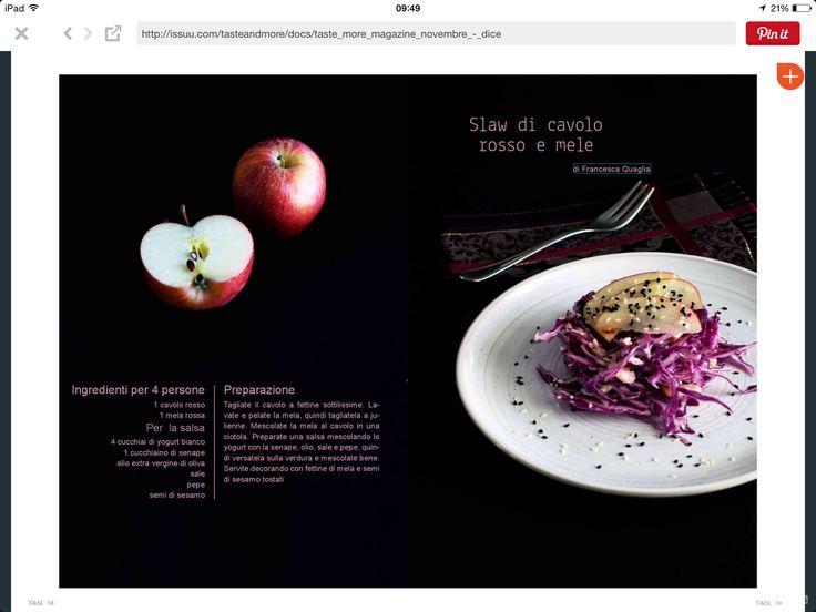 Slaw di cavolo rosso e mele
