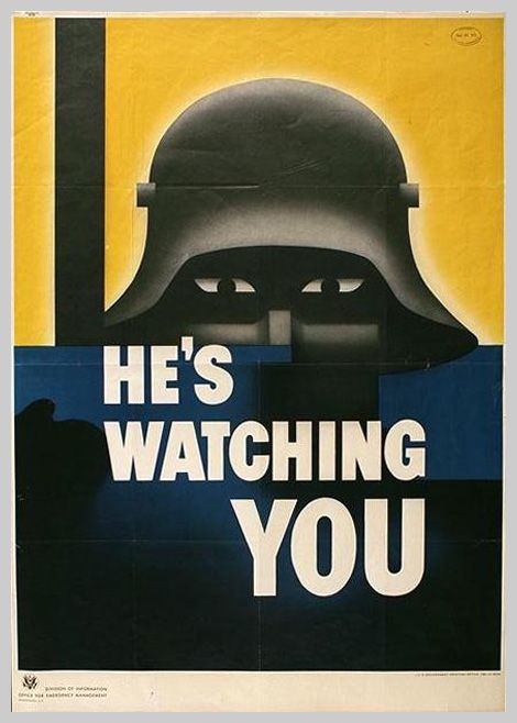 US World War II propaganda at it's finest!  I think I'm going to order a print of this, frame it, and put it up in my future child's room!