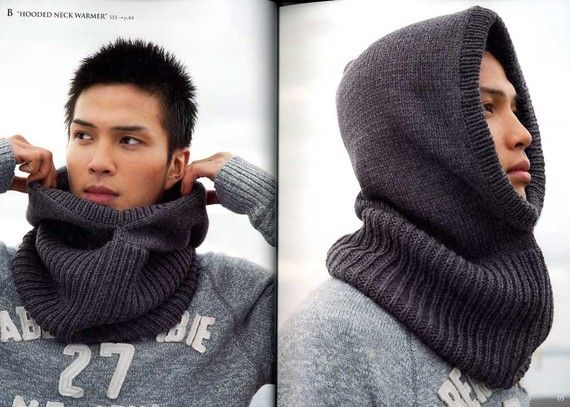 26 Patterns of Men's Crochet and Knit Hats and Goods - I want to knit this cowl in a silk and cashmere yarn for me :)