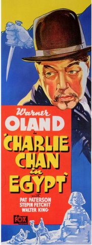 CHARLIE CHAN IN EGYPT - Warner Ohland - Pat Patterson - Stepin Fechit - Walter King - 20th Century-Fox - Insert Movie Poster.