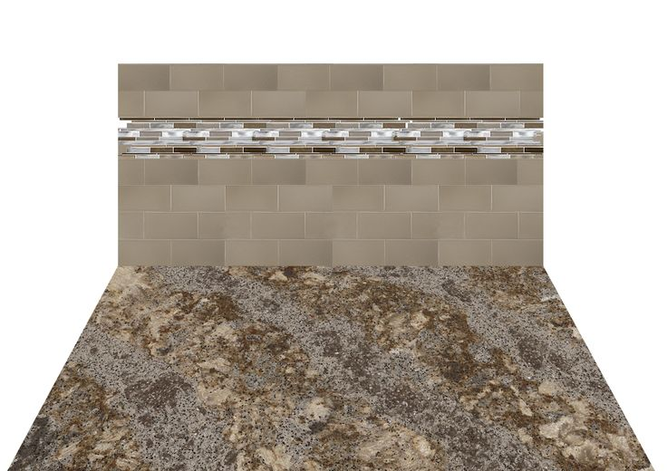 Mockup Of Cambria Helmsley Countertop Glazzio Backsplash