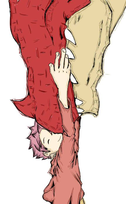 Igneel and Natsu from Fairy Tail.  I made a mistake before :P