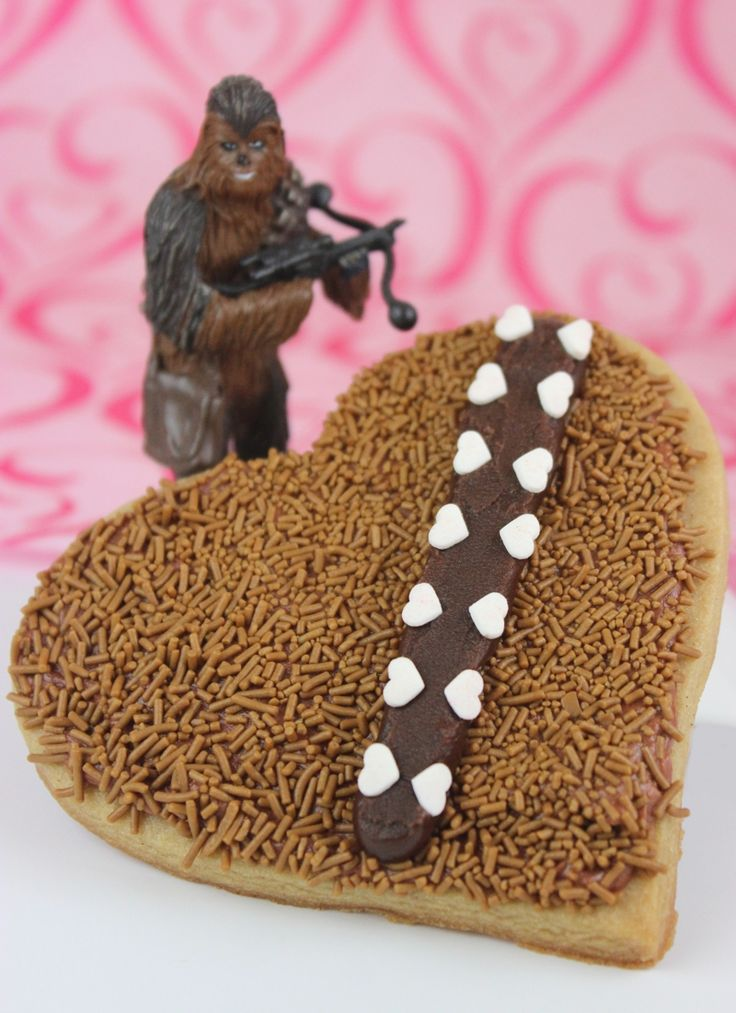 Geek out and spread the love with these tasty treats. Star Wars themed Wookie cookies